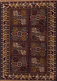 Persian Baluch Multicolor Rectangle 4x6 ft Wool Carpet 12395