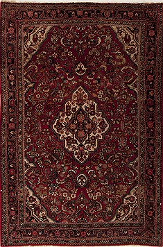 Persian sarouk Red Rectangle 5x7 ft Wool Carpet 12407