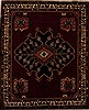 Hamedan Red Hand Knotted 49 X 60  Area Rug 251-12421 Thumb 0