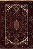 Hamedan Red Hand Knotted 47 X 67  Area Rug 251-12437 Thumb 0