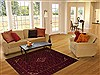 Hossein Abad Red Hand Knotted 50 X 69  Area Rug 251-12454 Thumb 5