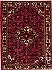 Hossein Abad Red Hand Knotted 51 X 69  Area Rug 251-12455 Thumb 0