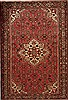 Hamedan Red Hand Knotted 49 X 80  Area Rug 251-12457 Thumb 0