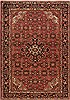 Hamedan Red Hand Knotted 53 X 74  Area Rug 251-12458 Thumb 0