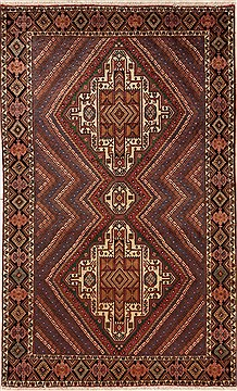 Persian Shahre babak Multicolor Rectangle 5x7 ft Wool Carpet 12459