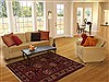 Hamedan Red Hand Knotted 55 X 72  Area Rug 251-12463 Thumb 5