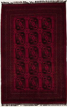 Afghan Bokhara Red Rectangle 7x10 ft Wool Carpet 12475
