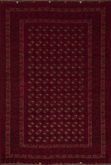 Afghan Bokhara Red Rectangle 7x10 Ft