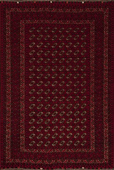 Afghan Bokhara Red Rectangle 7x10 ft Wool Carpet 12482