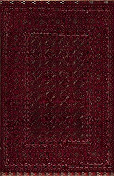 Afghan Bokhara Red Rectangle 7x10 ft Wool Carpet 12487