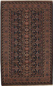 Persian Ardebil Blue Rectangle 6x9 ft Wool Carpet 12490