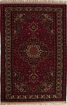 Persian Bakhtiar Red Rectangle 7x10 ft Wool Carpet 12500