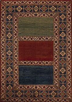 "Pakistani Kazak  Wool Multi-Color Area Rug  (7'0"" x 9'11"") - 251 - 12501"