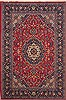 Mashad Red Hand Knotted 67 X 98  Area Rug 251-12510 Thumb 0