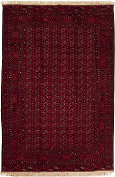 Pakistani Bokhara Red Rectangle 7x9 ft Wool Carpet 12512