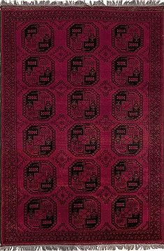 "Turkman Red Hand Knotted 6'9"" X 9'6""  Area Rug 251-12523"