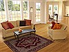 Kerman Red Hand Knotted 55 X 78  Area Rug 251-12527 Thumb 4