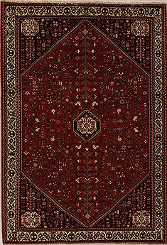 Persian Abadeh Red Rectangle 6x9 ft Wool Carpet 12544