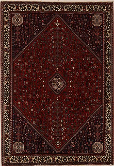 Persian Abadeh Red Rectangle 6x9 ft Wool Carpet 12556