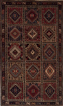 "Yalameh Multicolor Hand Knotted 5'0"" X 8'4""  Area Rug 251-12563"