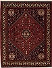 Qashqai Red Hand Knotted 51 X 67  Area Rug 251-12566 Thumb 0