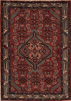 Persian Hamedan Red Rectangle 3x5 ft Wool Carpet 12579