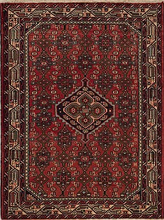Persian Hamedan Red Rectangle 3x5 ft Wool Carpet 12585