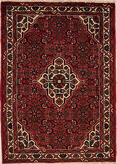 Persian Hossein Abad Purple Square 5 to 6 ft Wool Carpet 12628