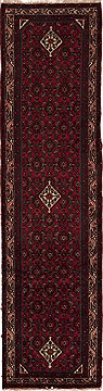 Persian Hossein Abad Red Runner 10 to 12 ft Wool Carpet 12653