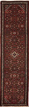 Persian Hossein Abad Purple Runner 10 to 12 ft Wool Carpet 12654