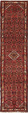 Persian Hossein Abad Purple Runner 10 to 12 ft Wool Carpet 12655