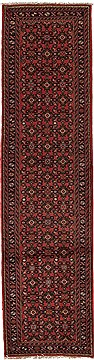 Persian Hossein Abad Purple Runner 10 to 12 ft Wool Carpet 12656