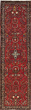 Persian Hamedan Red Runner 10 to 12 ft Wool Carpet 12707