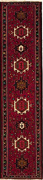 Persian Karajeh Red Runner 10 to 12 ft Wool Carpet 12725