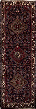 Persian Hossein Abad Blue Runner 10 to 12 ft Wool Carpet 12784