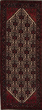Persian Hamedan Beige Runner 6 to 9 ft Wool Carpet 12785