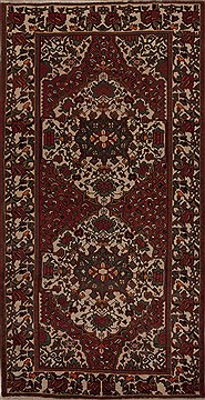 Persian Hamedan Red Runner 10 to 12 ft Wool Carpet 12797