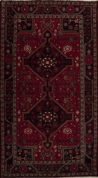Persian Mussel Red Rectangle 6x9 ft Wool Carpet 12812