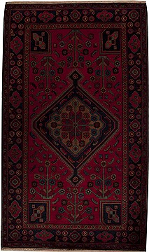 "Mussel Red Hand Knotted 5'6"" X 9'5""  Area Rug 251-12819"