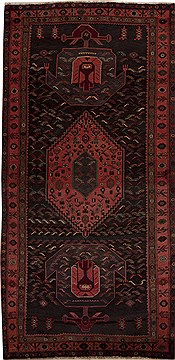 "Qashqai Grey Runner Hand Knotted 5'5"" X 10'3""  Area Rug 251-12824"