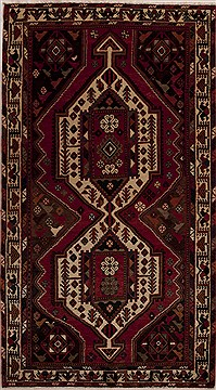 "Mussel Red Runner Hand Knotted 5'2"" X 9'6""  Area Rug 251-12828"