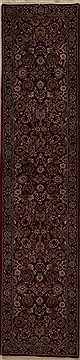 Persian Mashad Red Runner 10 to 12 ft Wool Carpet 12860
