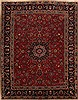 Mashad Red Hand Knotted 103 X 130  Area Rug 251-12865 Thumb 0