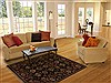 Agra Black Hand Knotted 40 X 59  Area Rug 251-12877 Thumb 5