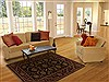 Agra Black Hand Knotted 41 X 61  Area Rug 251-12879 Thumb 5