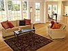 Agra Red Hand Knotted 40 X 61  Area Rug 251-12893 Thumb 5