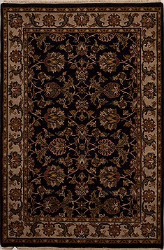 "Agra Blue Hand Knotted 4'1"" X 6'0""  Area Rug 251-12905"