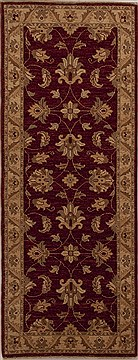 Pakistani Chobi Red Runner 6 ft and Smaller Wool Carpet 12950