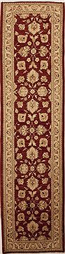 Pakistani Chobi Red Runner 10 to 12 ft Wool Carpet 12969