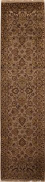 "Agra Beige Runner Hand Knotted 2'6"" X 7'1""  Area Rug 251-12978"